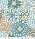 Waverly Sun N Shade Home Decor 8\u0022x8\u0022 Swatch-Button Blooms Tide Pool