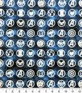 Avengers Cotton Fabric-Badges