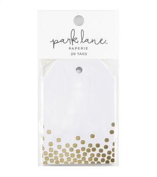 Park Lane 20 pk Tags-Gold Confetti