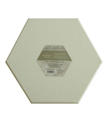 """Artist Series Stretched 12"""" Canvas-Hexagon"""
