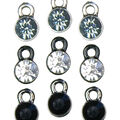 Darice Metal Charms 5/Pkg-Crystal Drops
