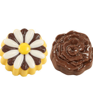 Wilton Cookie Candy Mold 6 Cavity-Daisy/Rose