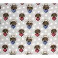 Super Snuggle Flannel Fabric-Daschound Cowboy Faces