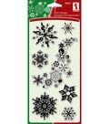 Inkadinkadoo Clear Stamps 4\u0022x8\u0022-Snowflakes-A-Plenty