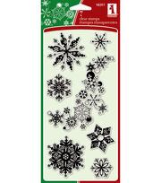 "Inkadinkadoo Clear Stamps 4""x8""-Snowflakes-A-Plenty, , hi-res"