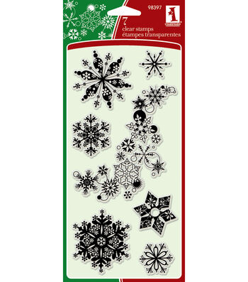 "Inkadinkadoo Clear Stamps 4""x8""-Snowflakes-A-Plenty"