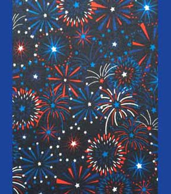 """Holiday Cotton Fabric 57""""-Fireworks"""