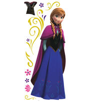York Wallcoverings Peel & Stick Wall Decal-Frozen's Anna with Cape, , hi-res