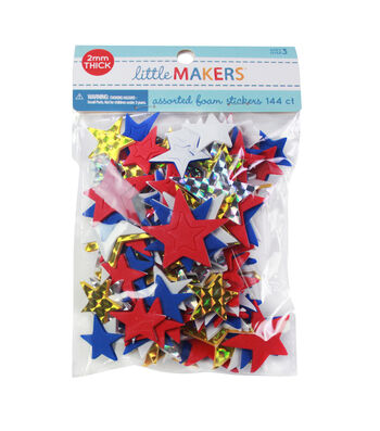 Little Makers Holographic Adhesive Stickers-Stars