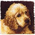 Wonderart Latch Hook Kit 12\u0022X12\u0022-Puppy Love