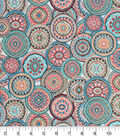 Snuggle Flannel Fabric -Wildflower Medallions