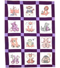 Fairway Needlecraft 9\u0027\u0027x9\u0027\u0027 Stamped Baby Quilt Blocks-Stuffed Animal