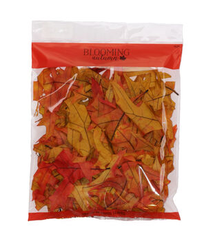 Blooming Autumn Preserved Oak Leaves-Red & Yellow Mix