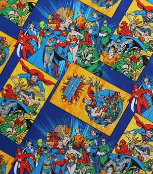 DC Comics Cotton Fabric-Book Covers