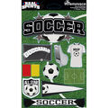 Reminisce Real Sports Dimensional Stickers Soccer