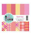 Pink & Main Double-Sided Paper Pad 6\u0022X6\u0022 24/Pkg-Sunrise