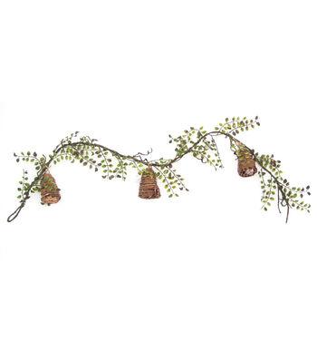 Bloom Room Honeycomb Garland-Light Green
