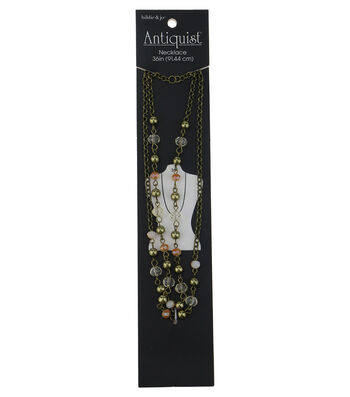 hildie & jo Antiquist 36'' Antique Gold Necklace-Multi Beads