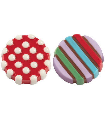 Wilton® Cookie Candy Mold 6 Cavity-Dot Stripe
