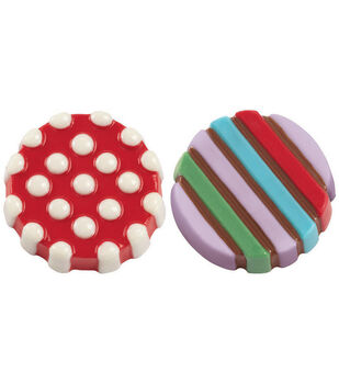 Wilton Cookie Candy Mold 6 Cavity-Dot Stripe
