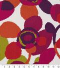 Robert Allen @ Home Print Swatch 55\u0022-Abstract Flora Poppy