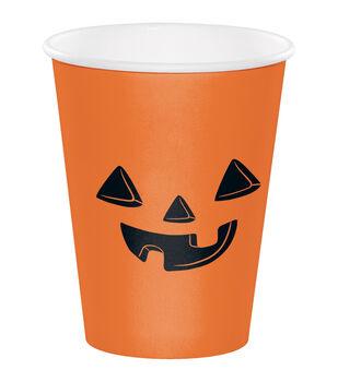 Maker's Halloween 10 pk 7.09''x3.54'' Paper Cups-Jack-o'-lantern