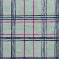 Anti-Pill Plush Fleece Fabric-Distressed Aqua Plaid