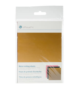 Silhouette of America Curio Metal Etching Sheets-Black, Gold, Pink