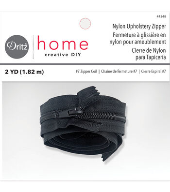 "Dritz Home 72"" Nylon Upholstery Zipper-Black"