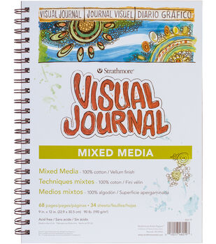 "Strathmore Visual Journal Mixed Media Vellum 9""X12""-34 Sheets"