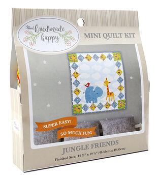 Sew Simple Handmade Happy Mini Quilt Kit-Jungle Friends