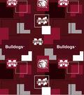Mississippi State University Bulldogs Cotton Fabric 43\u0027\u0027-Modern Block
