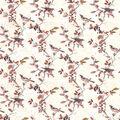 Harvest Cotton Fabric-Birds & Berries