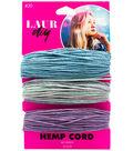 LaurDIY Light Blue/Pastel/Purple Hemp Cord