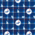 LA Dodgers Flannel Fabric-Plaid