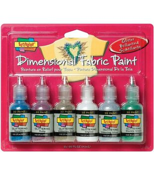 Scribbles Dimensional Fabric Paint 1 Ounce-Glittering