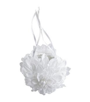 """Wilton 3""""X5"""" Gardenia Wedding Flower Basket-White"""