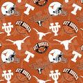 University of Texas Cotton Fabric-Tone on Tone