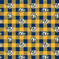 Nashville Predators Fleece Fabric-Buffalo Plaid