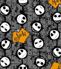 Nightmare Before Christmas Halloween Cotton Fabric -Jack Head Toss