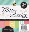 DCWV Cardstock Stack 6\u0022X6\u0022 24/Pkg-Glitter Basics