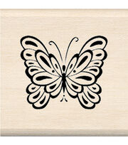 Inkadinkado Mounted Rubber Stamp-Butterfly, , hi-res
