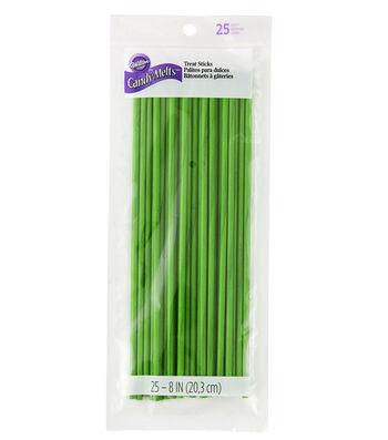 "Wilton 8"" Green Treat Sticks"