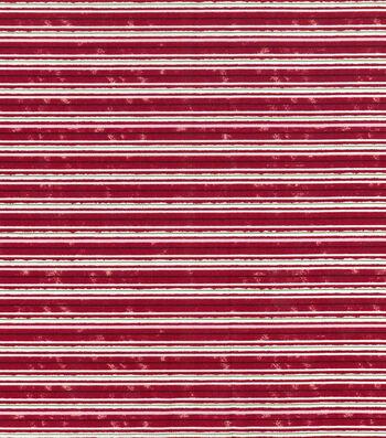 "Keepsake Calico Holiday Cotton Fabric 43""-Christmas Stripe"
