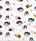 Novelty Cotton Fabric-Kittens on Yarn Ball