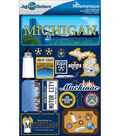 Jet Setters Dimensional Stickers-Michigan