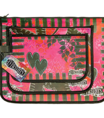 Dylusions Designer Accessory Bag-Pink & Green
