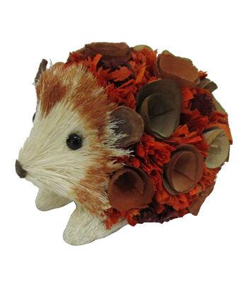 Blooming Autumn Sisal & Wood Curl Hedgehog