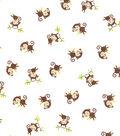 Snuggle Flannel Fabric 42\u0027\u0027-Playful Monkey