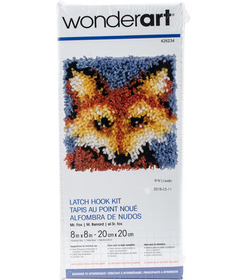 Wonderart 8''x8'' Latch Hook Kit-Mr. Fox